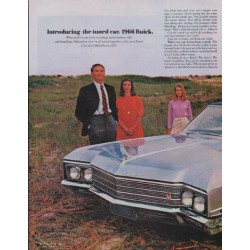 "1966 Buick Electra Ad ""Introducing the tuned car"""