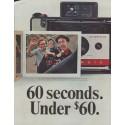 "1965 Polaroid Ad ""60 seconds"""