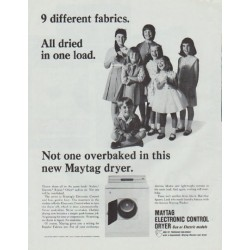 "1965 Maytag Ad ""9 different fabrics"""