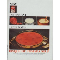 "1965 Campbell's Soup Ad ""New ... Different ... Delicious"""
