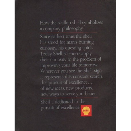 "1965 Shell Oil Ad ""the scallop shell"""