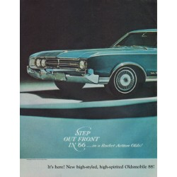 "1966 Oldsmobile Ad ""Step Out Front"""