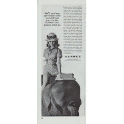 "1965 Hermes Typewriter Ad ""anywhere in the world"""