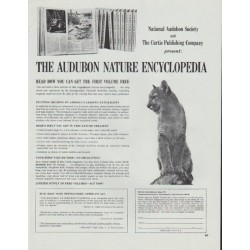 "1965 The Audubon Nature Encyclopedia Ad ""Exciting Reading"""