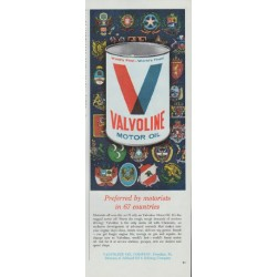 "1965 Valvoline Motor Oil Ad ""Preferred by motorists"""