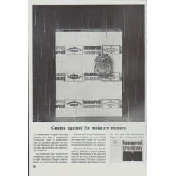 "1965 Hammermill Bond Ad ""the moisture menace"""