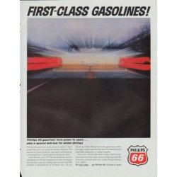 "1965 Phillips 66 Ad ""First-Class Gasolines"""