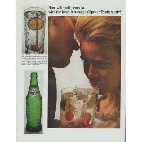 """1965 Sprite Ad """"How will vodka coexist"""""""