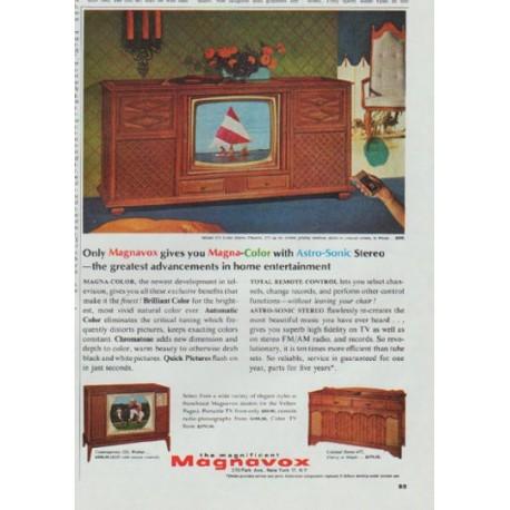 1965 Magnavox TV Ad Magna Color