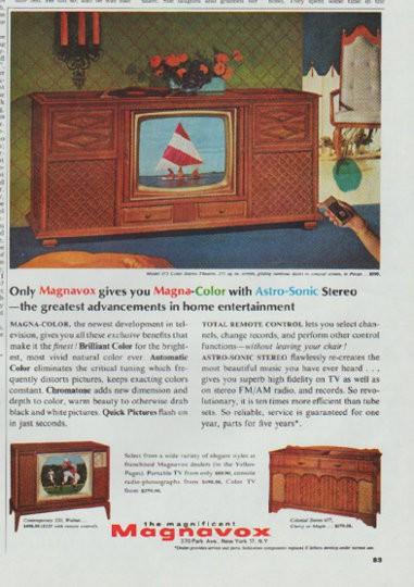 1965 magnavox tv vintage ad  u0026quot magna