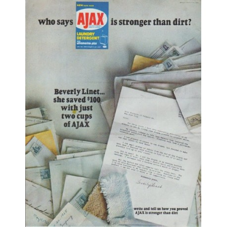 "1965 Ajax Ad ""who says"""