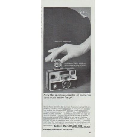 """1965 Kodak Ad """"Pop on a flashcube"""""""