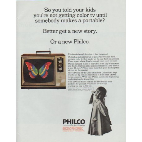 "1965 Philco Television Ad ""So you told your kids"""