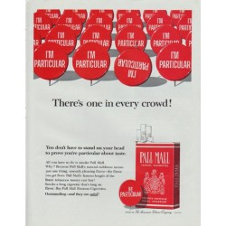 "1965 Pall Mall Cigarettes Ad ""There's one in every crowd!"""
