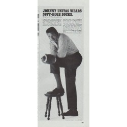 "1965 Supp-hose Socks Ad ""Johnny Unitas"""