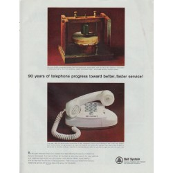 "1965 Bell System Ad ""90 years of telephone progress"""