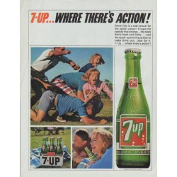 "1965 Seven-Up Ad ""Where There's Action"""