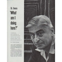 "1965 Theodor Seuss Geisel Article ""Dr. Seuss"""