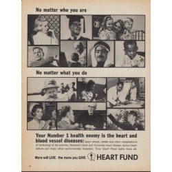 "1967 Heart Fund Ad ""Number 1 Health Enemy"""
