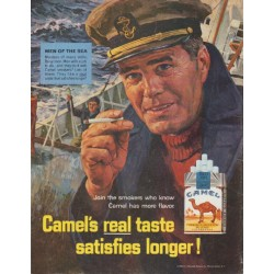 "1965 Camel Cigarettes Ad ""Men of the Sea"""