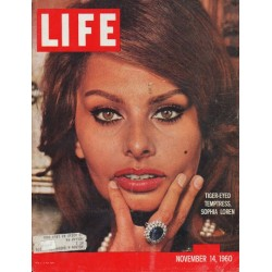 "1960 LIFE Magazine Cover Page ""Tiger-Eyed Temptress"""