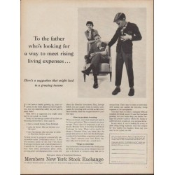 "1960 Members New York Stock Exchange Ad ""To the father"""
