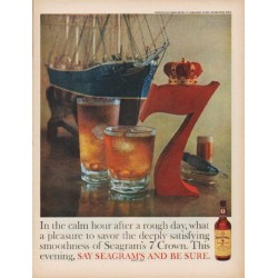 "1960 Seagram's Ad ""calm hour"""