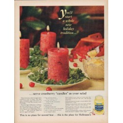 "1960 Hellmann's Real Mayonnaise Ad ""new holiday tradition"""