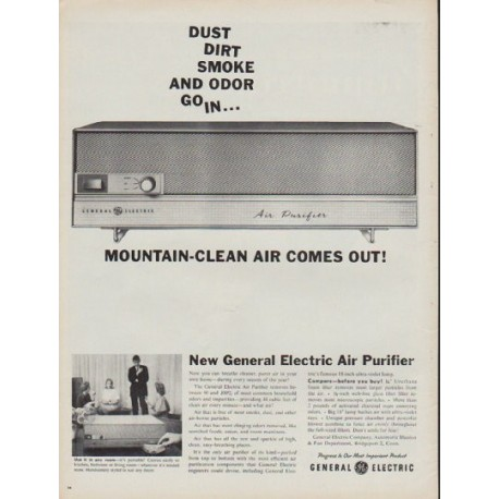 "1960 General Electric Ad ""Mountain-Clean Air"""