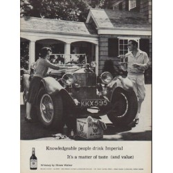 "1960 Imperial Whiskey Ad ""Knowledgeable people"""