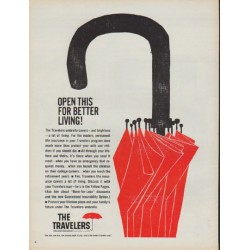 "1960 Travelers Insurance Ad ""better living"""