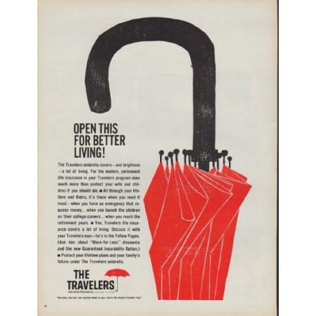 """1960 Travelers Insurance Ad """"better living"""""""