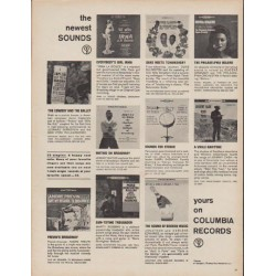 """1960 Columbia Records Ad """"the newest sounds"""""""
