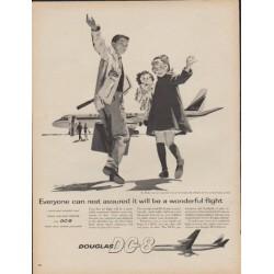 """1960 Douglas Airliner Ad """"Douglas DC-8"""""""