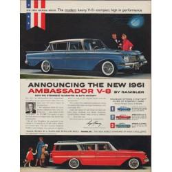 """1961 Rambler Ad """"Ambassador V-8"""""""