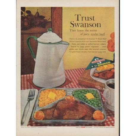 "1960 Swanson TV Dinner Ad ""Trust Swanson"""