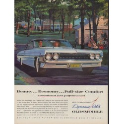 "1961 Oldsmobile Ad ""Beauty ... Economy"""