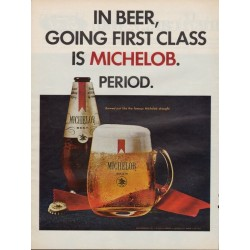 "1967 Michelob Beer Ad ""Going First Class"""
