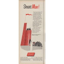 "1960 American Fore Insurance Ad ""Smart Man"""