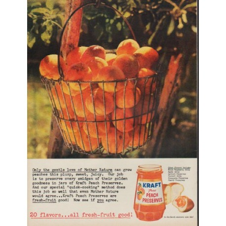 "1960 Kraft Ad ""gentle love of Mother Nature"""