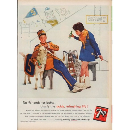 "1960 Seven-Up Ad ""No ifs -- ands -- or butts"""