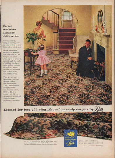 1960 Lees Carpet Vintage Ad Quot Carpet That Loves Company Quot