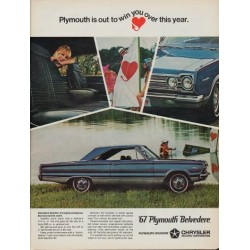 "1967 Plymouth Belvedere Ad ""Win You Over"""