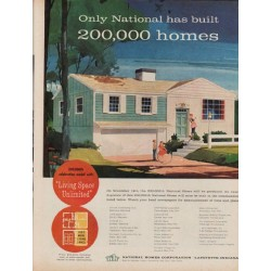 "1960 National Homes Corporation Ad ""Only National"""