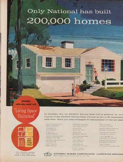 1960 national homes corporation vintage ad only national for National homes corporation floor plans