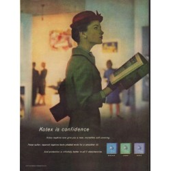 "1960 Kotex Ad ""Kotex is confidence"""