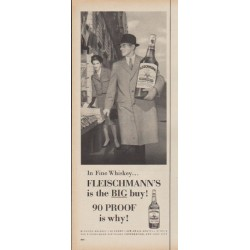 "1960 Fleischmann's Whiskey Ad ""In Fine Whiskey"""