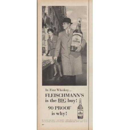 """1960 Fleischmann's Whiskey Ad """"In Fine Whiskey"""""""