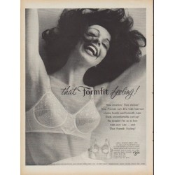 "1960 Formfit Bra Ad ""that Formfit feeling"""