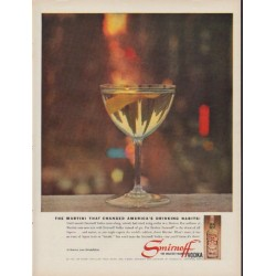 "1960 Smirnoff Vodka Ad ""The Martini"""